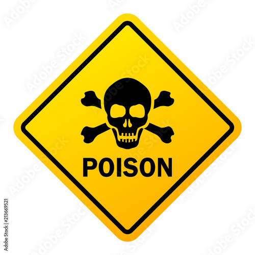 Valokuva Poison danger warning sign
