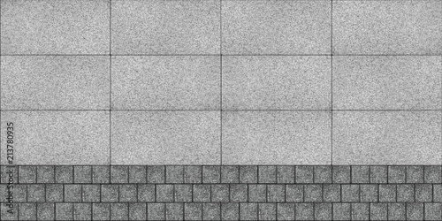Fotografia Layout of flags and cubes sett paving
