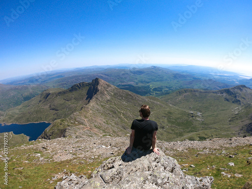 Photo Views from the peak of Mount Snowdon, Wales, UK