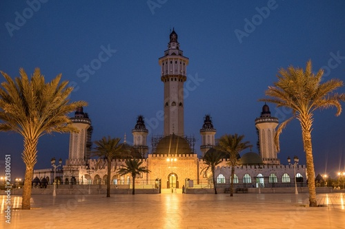 Grand Mosque of Touba at Night