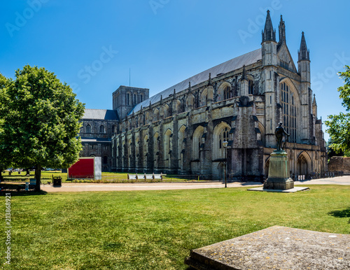 Fototapeta Summertime at Winchester Cathedral