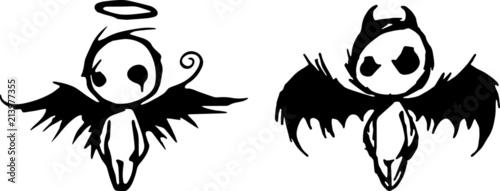 Canvas-taulu Engel und Teufel