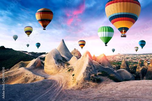 Wallpaper Mural Color balloons in the sunrise sky. Cappadocia, Turkey