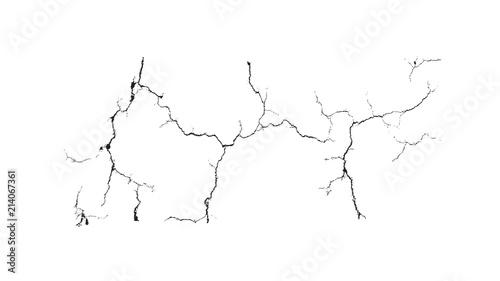 Obraz na plátne Black crack over white background