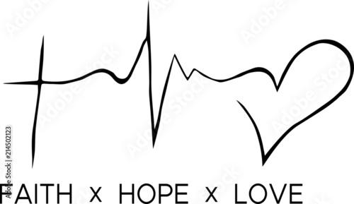 Canvas Print Faith - Hope - Love
