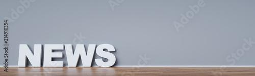 Photo News Header Hintergrund Konzept