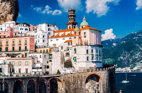 Photo Ancient architecture of Atrani village. Amalfi Coast