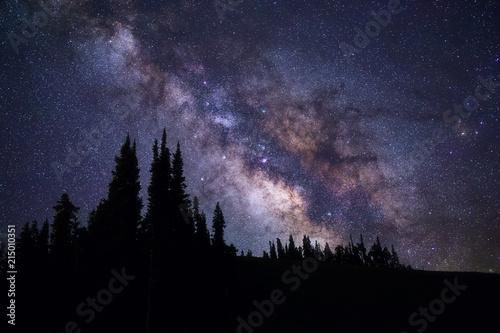 Milky Way galaxy and starry night sky