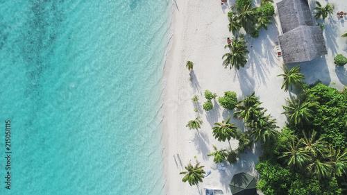 Foto Amazing bird eyes view in Maldives