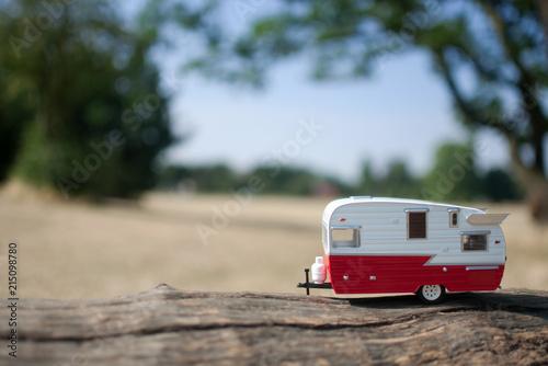 Slika na platnu Summer countryside caravan