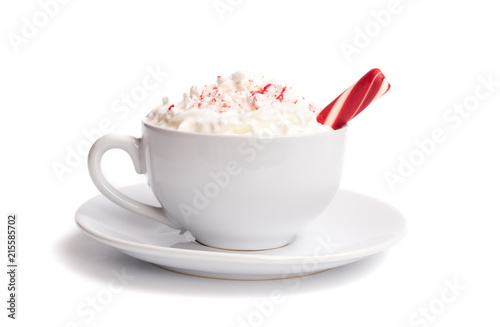 Peppermint Latte Isolated on a White Background