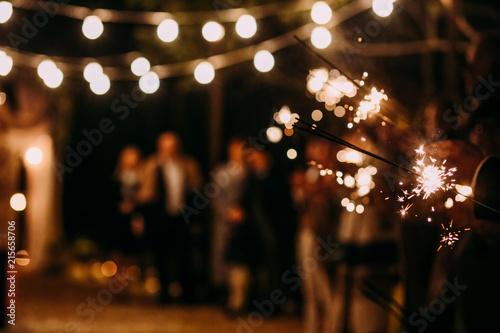 Fotografie, Tablou Bengal lights retro light  party night people