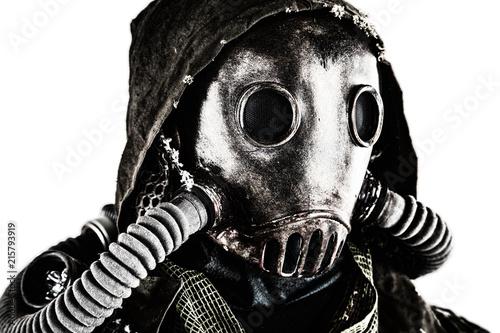 Wallpaper Mural Close up portrait of nuclear post-apocalypse survivor, living underground mutant