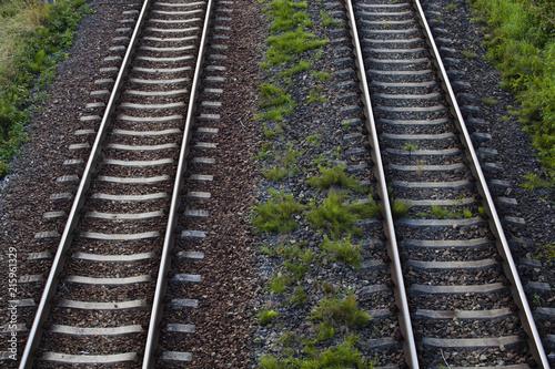 Parallel railroad rails