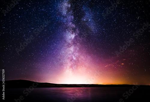 Fototapeta Milky Way over the sea