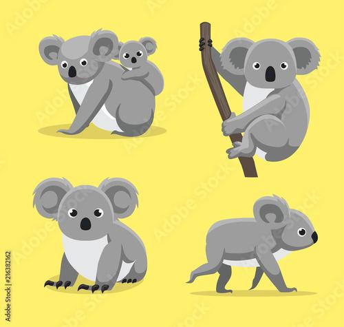 Fototapeta premium Cute Koala stanowi ilustracja kreskówka wektor