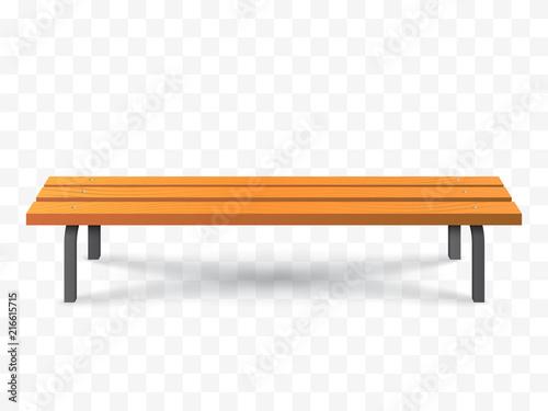 Vector Bench isolated. Park wooden bench illustration Fototapet