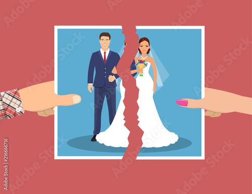 Break up of relationship. Fototapeta