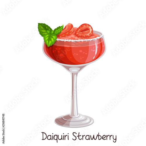 Canvas Print strawberry daiquiri cocktai