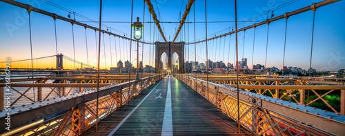Obraz na płótnie Most Brukliński w ujęciu 3D w Nowym Jorku