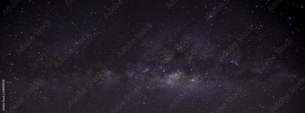 milky way on the night sky