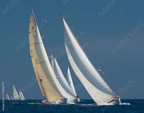 Fotografia French Riviera - old sail race in Cannes