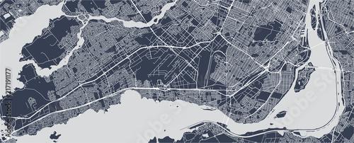Obraz na plátně map of the city of Montreal , Canada