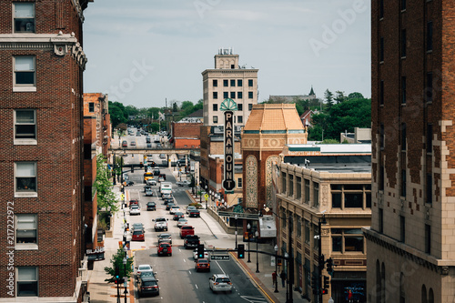 Stampa su Tela Galena Boulevard and the Paramount Theater in Aurora, Illinois