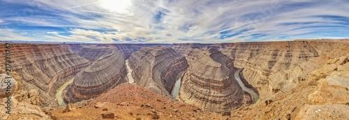 Fotografie, Tablou Panoramaaufnahme vom Muley Point in Arizona auf den Colorado River fotografiert
