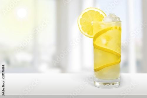 Fotografie, Obraz Lemonade with fresh lemon on desk