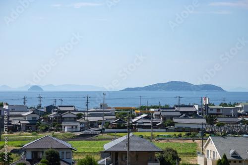 Obraz na plátně Landscape of seto inland sea(Ibuki island),Kagawa,Shikoku,Japan