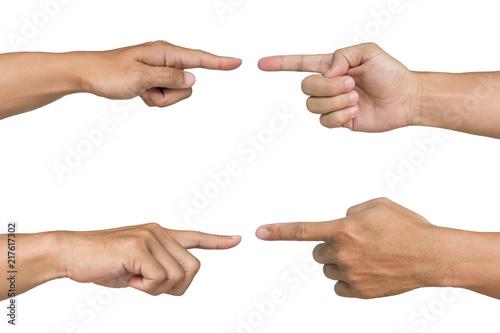 Obraz na płótnie pointing hand isolated on white