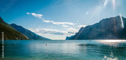 Fotografie, Obraz Lake Garda is the largest lake in Italy