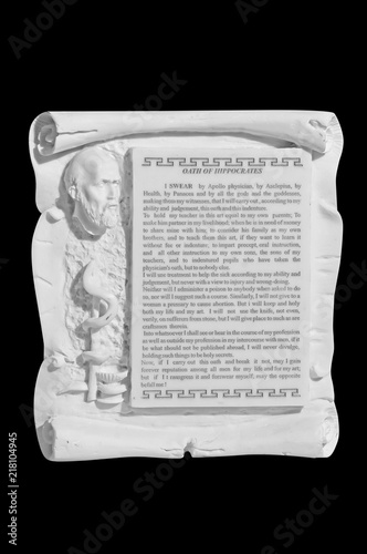 oath of the hippocrates on a black background