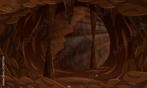 Fotografie, Tablou A dark cave landscape