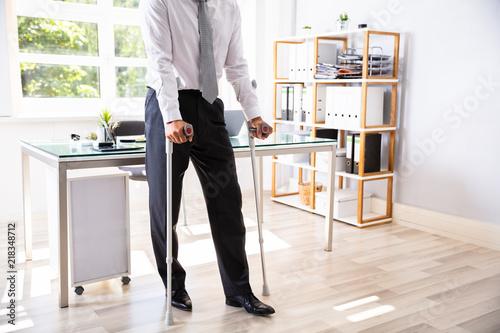 Vászonkép Disabled Businessman