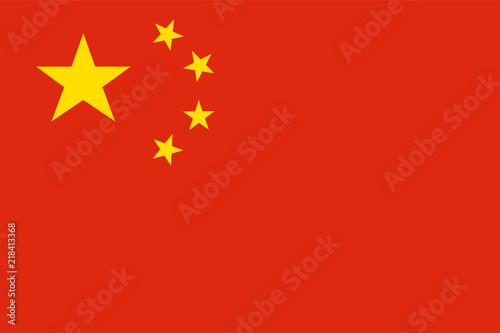 Murais de parede China national flag. Official colors. Correct proportion. Vector