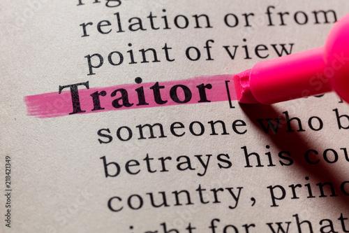 Obraz na płótnie definition of traitor