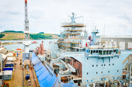 Fotografia Ship under construction
