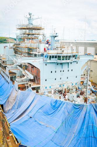 Foto Ship under construction