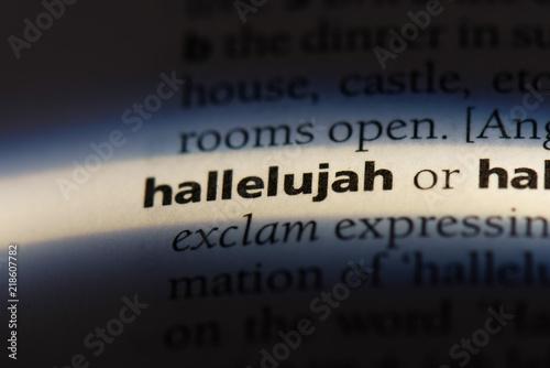 Fototapeta hallelujah