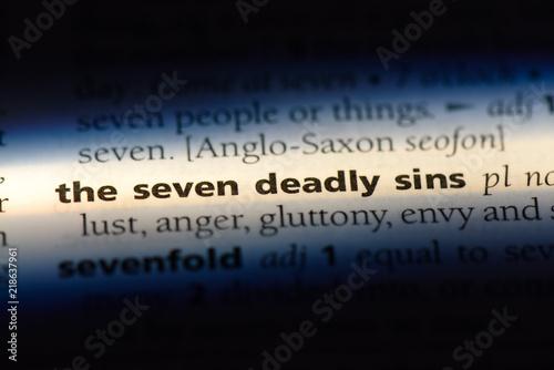 Fotografia the seven deadly sins