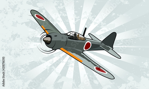 Canvas Print World War Two Fighter Aircraft