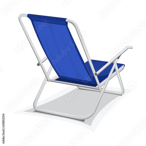 Slika na platnu Steel beach chair