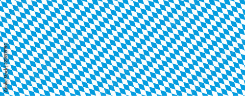Canvastavla Oktoberfest Banner in bayrischen Farben mit Rautenmuster