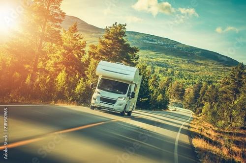 Camper Van Summer Trip Fototapet