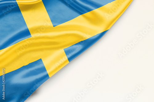 Wallpaper Mural Flag of Sweden with place for text