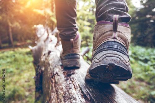Obraz na plátně a hiking boots