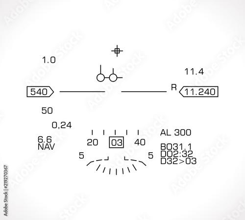Photo HUD display - jet fighter flight nawigation system