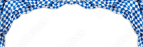 Fotografiet bavaria flag oktoberfest empty isolated wide panorama banner background with cop